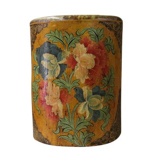 Chinese Tibetan Floral Side Table Stool