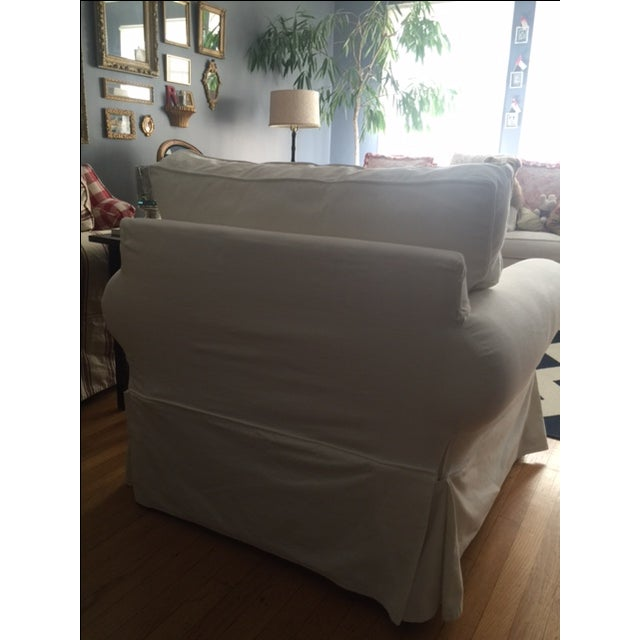 Pottery Barn White Slipcover Armchair - Image 5 of 6