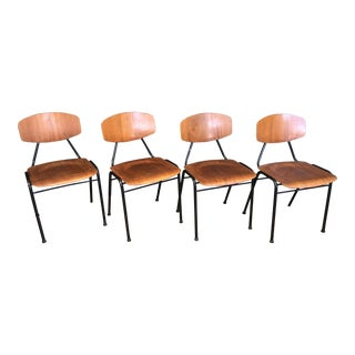 Danish Teak School Chairs - Set of 4
