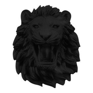 Faux Roaring Lion Wall Bust