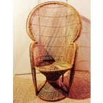 Image of Mid-Century Boho Chic Wicker Peacock Chair