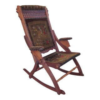 Victorian Eastlake Folding Rocking Chair