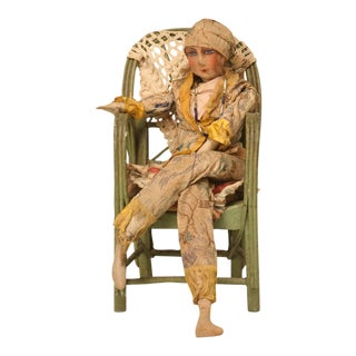 c.1920 Frech Art Deco Doll in Chair