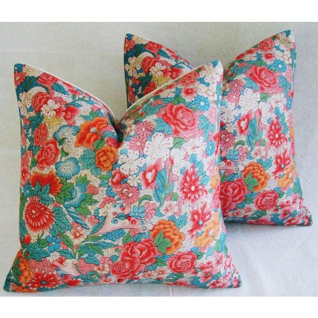 Sale! 4 Summer Floral Linen Pillow Covers - Set 4 - Image 2 of 9