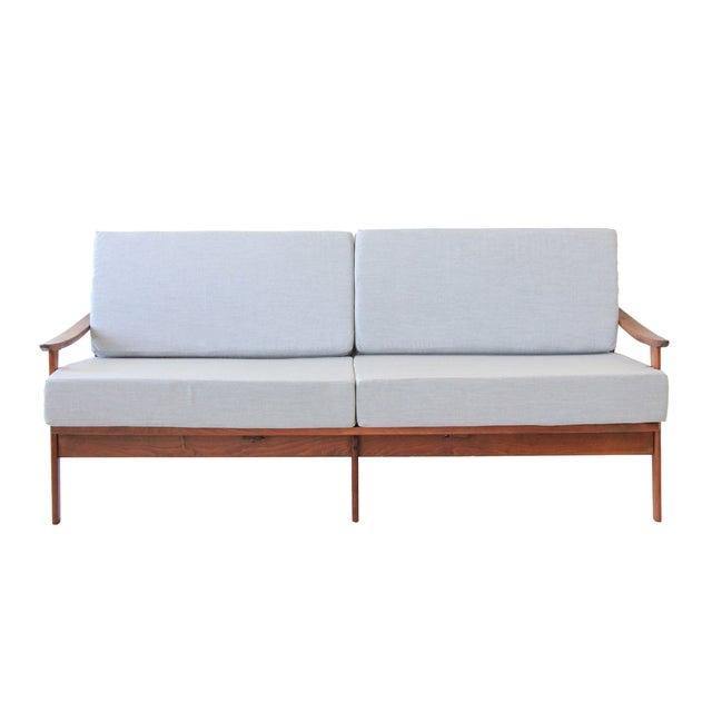 Mid-Century Modern Daybed in Light Gray - Image 1 of 7