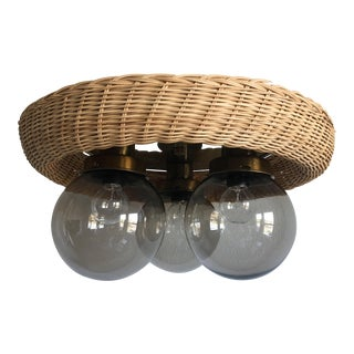 Wicker Flush Light