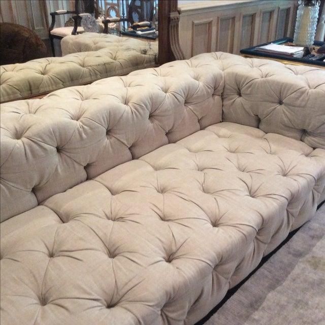 Restoration hardware soho tufted upholstered sofa chairish for Restoration hardware tufted sectional sofa