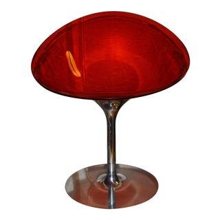 Kartell Philippe Starck Eros Red Swivel Chair