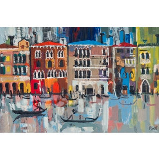 Vintage the Grand Canal, Venice, Large Serigraph