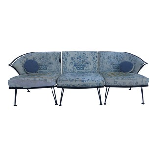Woodard Mid-Century Iron Three Piece Sofa