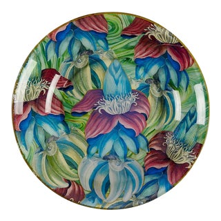 Durwin Rice Tropical Floral Botanical Decoupage Bowl