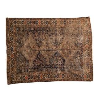 "Vintage Distressed Shiraz Rug - 4'8"" X 6'1"""
