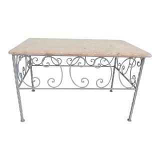 Vintage Iron & Marble Coffee Table