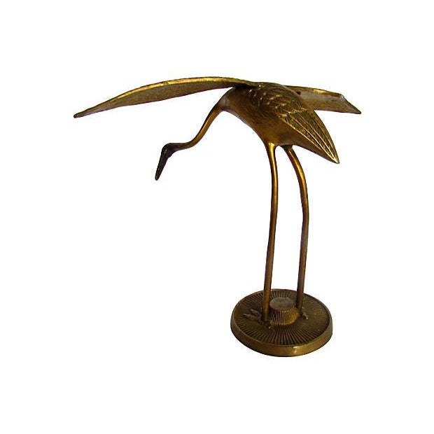 Image of Modern Brass Egrets - A Pair