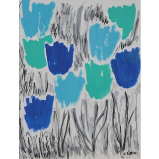 Cleo Abstract Floral Tulip Painting
