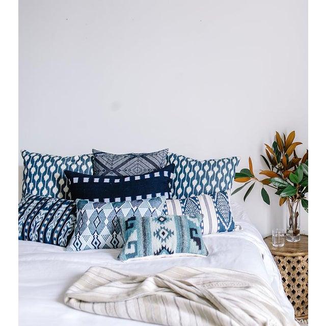 Naturally Dyed Indigo Pillow - Image 4 of 5