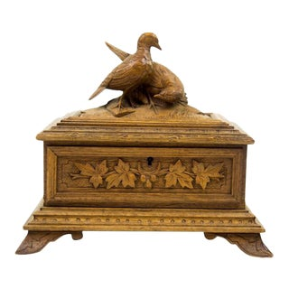 Black Forest Water Bird Jewelry Box