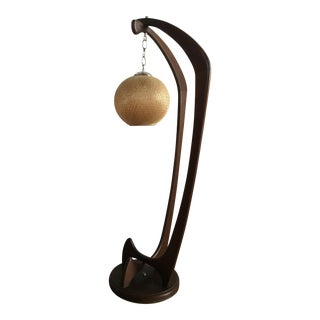 Vintage Mid-Century Modern Sculpted Floor Lamp