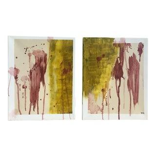 """Modern Abstract Bohemia, Original Art - Pair """"Hiraeth"""""""