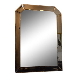 Large Bevelled Geometric Hollywood Glamour Decorative Wall Hanging Mirror