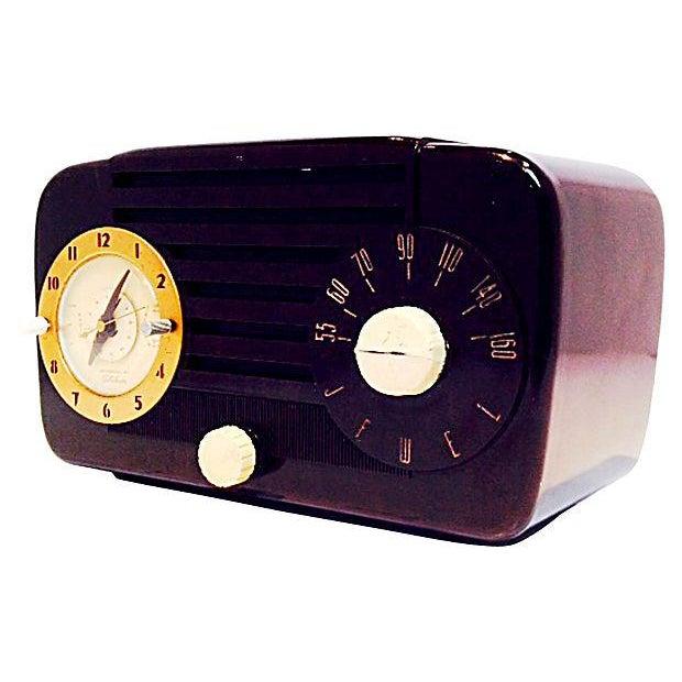 Jewel Telechron Clock Radio C. 1950 - Image 5 of 6