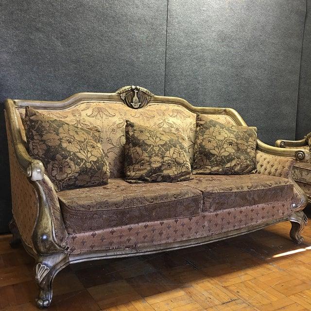 Carved Wooden Frame Sofa - Image 3 of 7