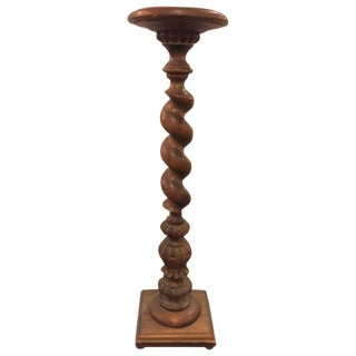 Circa 1930s Barley Twist Pedestal