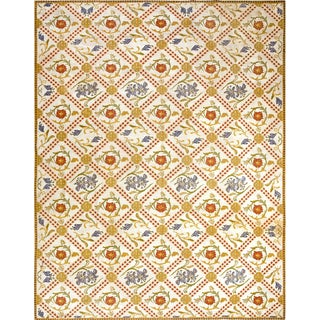 "Portuguese Arraiolos Needlepoint Carpet - 10'3"" X 13'3"""