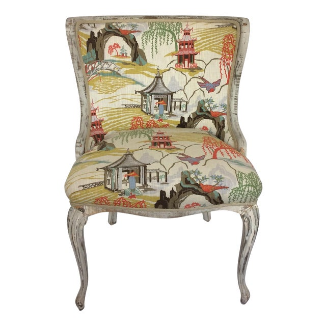 Antique Upholstered Chair - Image 1 of 8