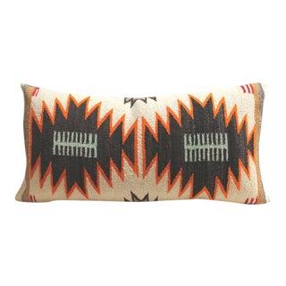 Rare Double Eye Dazzler Navajo Indian Weaving Bolster Pillow