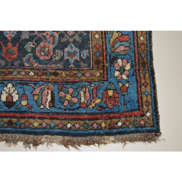 """Antique Persian Wide Runner- 3'10"""" X 9'7"""" - Image 9 of 11"""