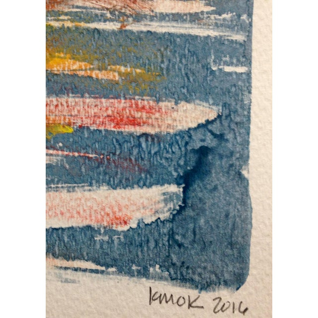 """Orange Sun"" Ink Print, 2016 - Image 4 of 4"