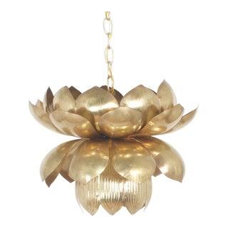 Rare Large Size Lotus Pendant Light