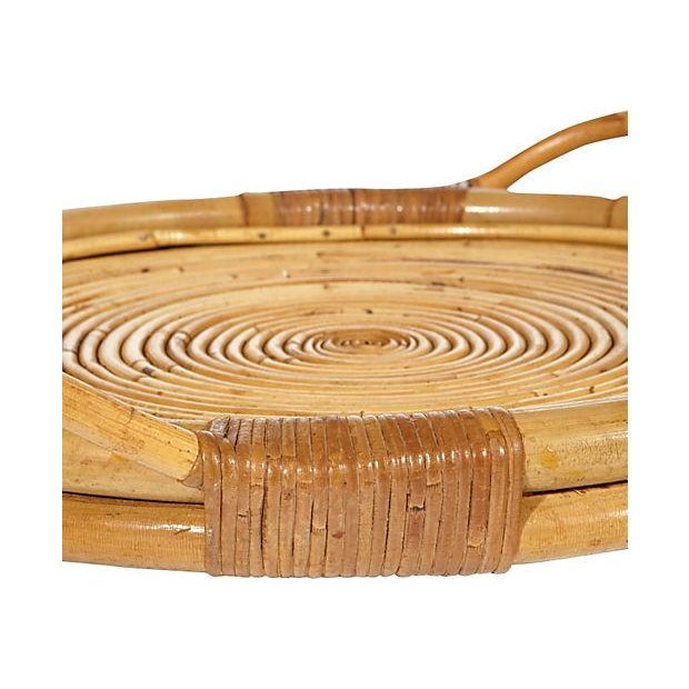 Vintage 1950s Rattan Serving Tray - Image 3 of 4