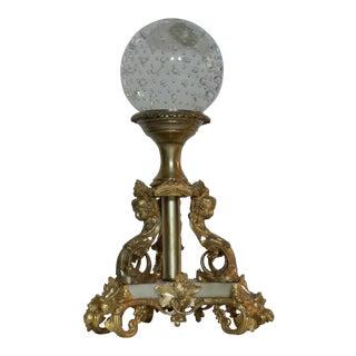 Murano Sphere on Bronze Stand