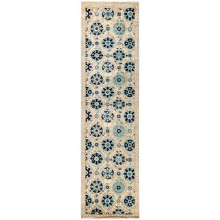 """Suzani Hand Knotted Runner - 2'7"""" X 9'10"""""""