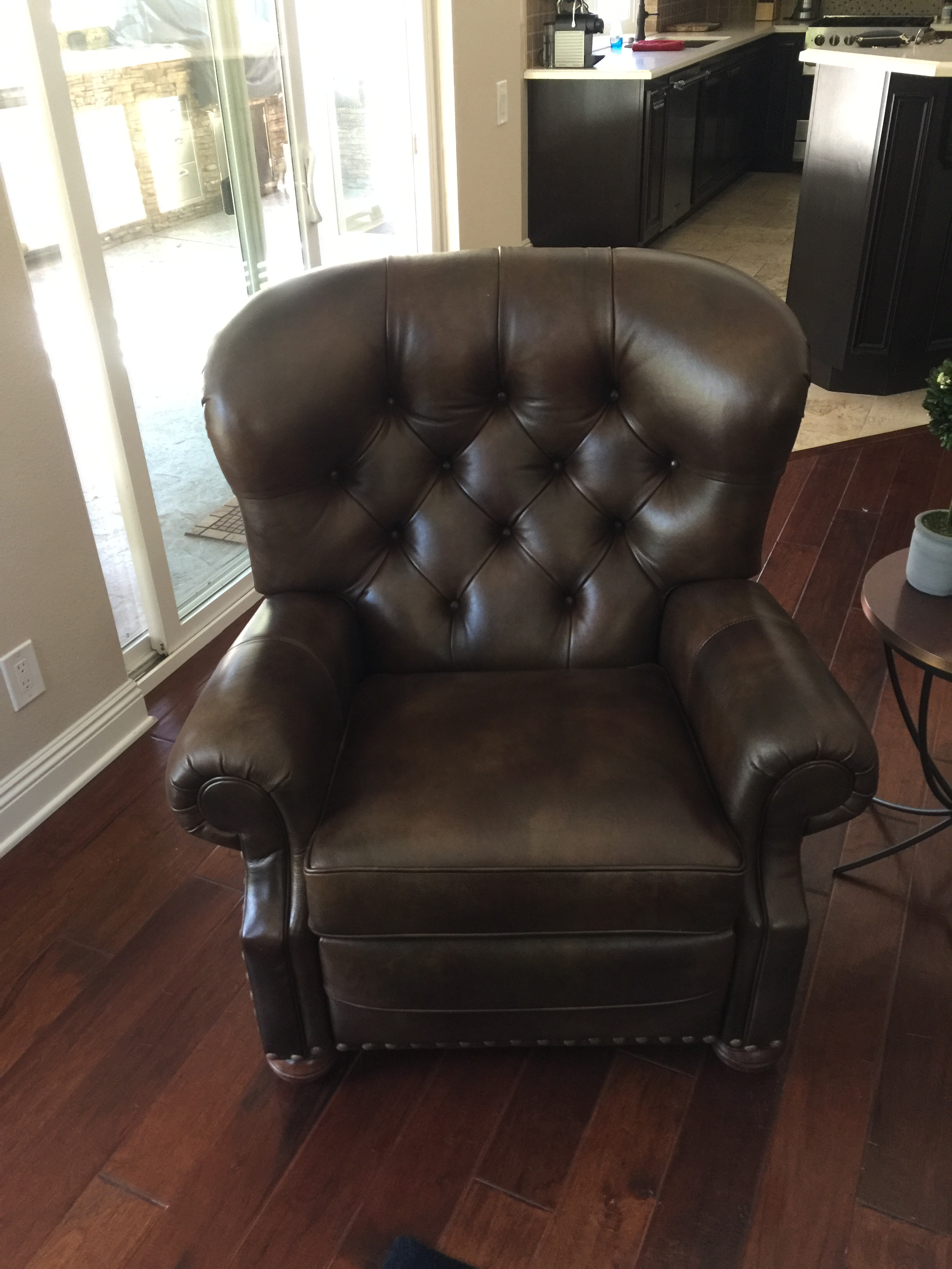 Ethan Allen Cromwell Leather Recliner - Image 2 of 4  sc 1 st  Chairish : ethan allen leather recliner chairs - islam-shia.org