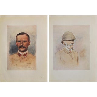 Admiral Maxse by M.Menpes Portraits - A Pair