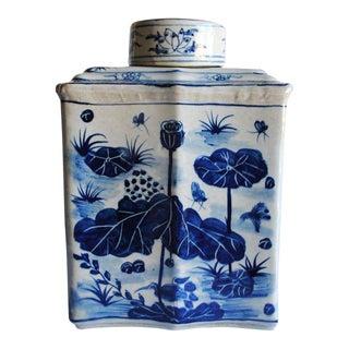 Large Vintage Faceted Jar