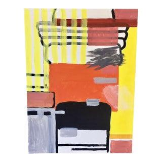 Orange & Yellow Modern Abstract Painting