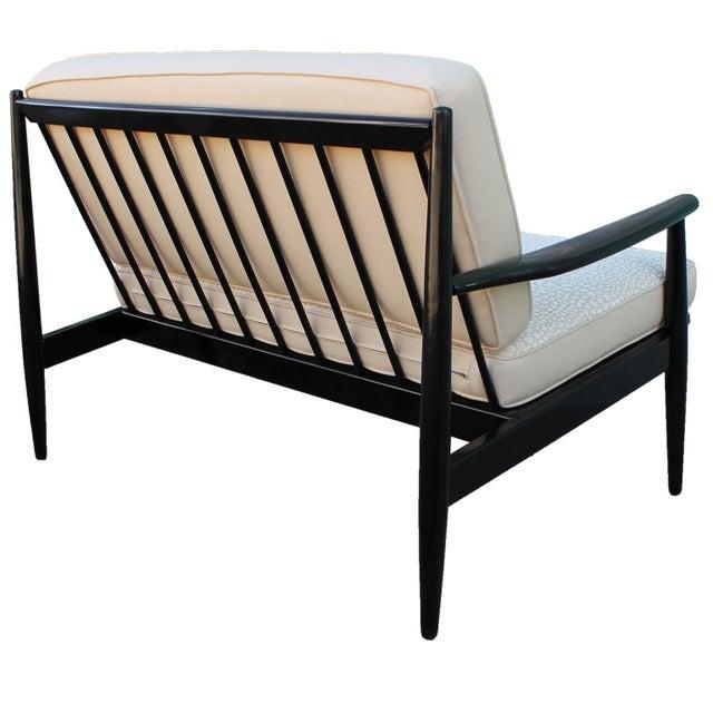 Mid-Century Wood Frame One-Arm Settee Sofa