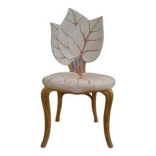 Unusual Italian Leaf Chair