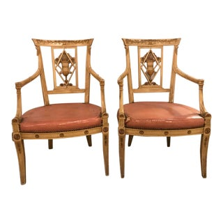 Maison Jansen Arm Chairs - a Pair