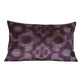 Fabia Silk Velvet Ikat Pillow