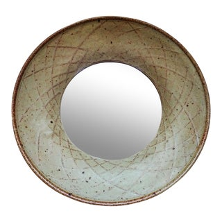 Stoneware Porthole Style Mirror