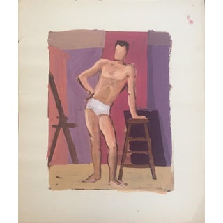 1940-50s Gouache Painting Bay Area Figurative Movement