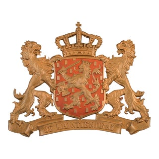 Bronze Coat of Arms of the Nederland