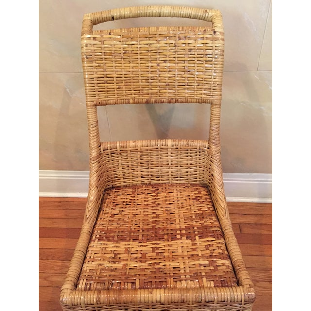 Vintage McGuire Caned Side Chair - Image 7 of 8