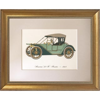 Vintage Automobile Lithograph 1913 American 22 B Roadster