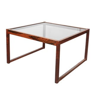 Danish Square Glass Coffee Table